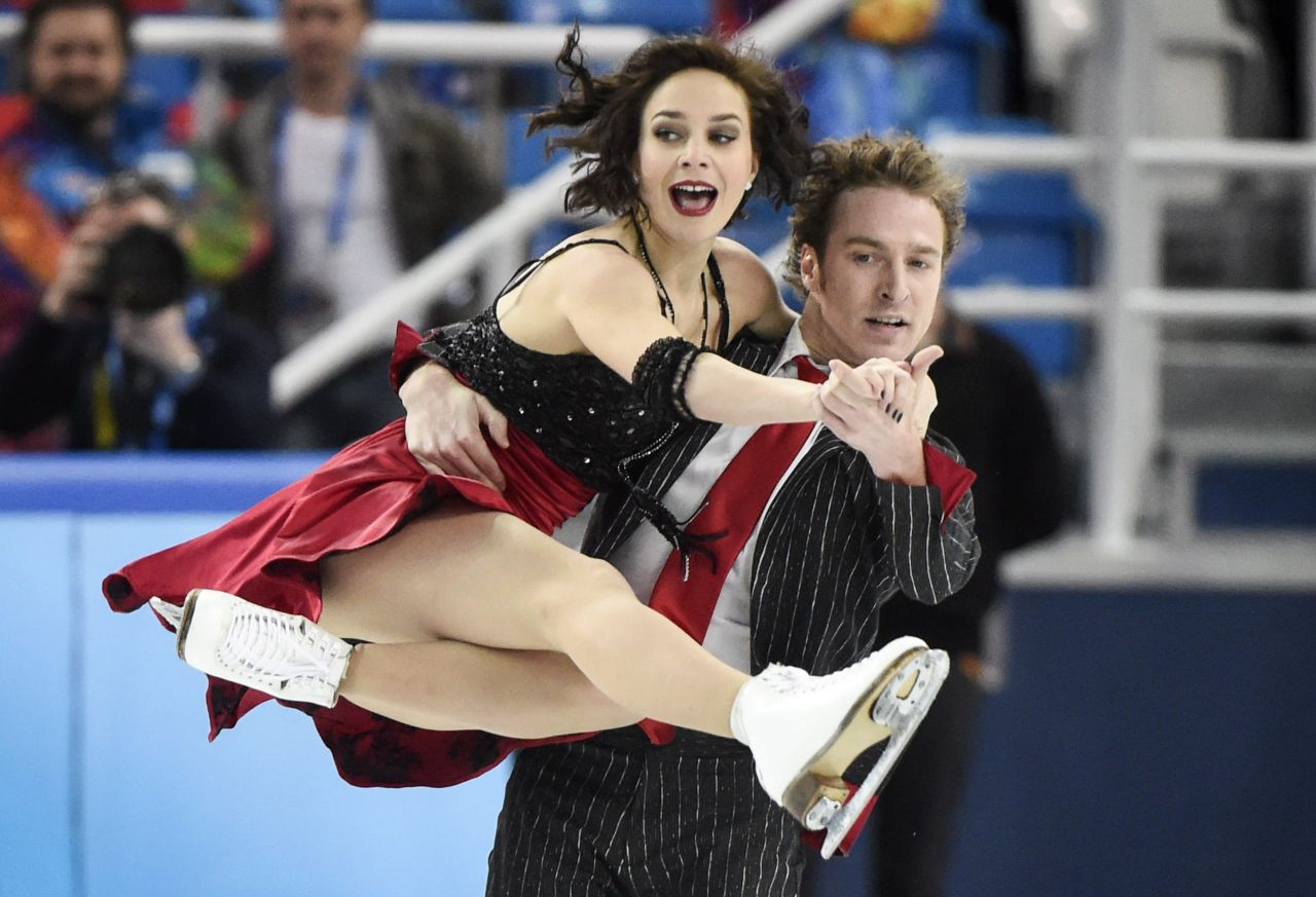 Nathalie Péchalat - Sochi 2014 Winter Olympics – Figure Skating Team Ice Dance (Short Dance)