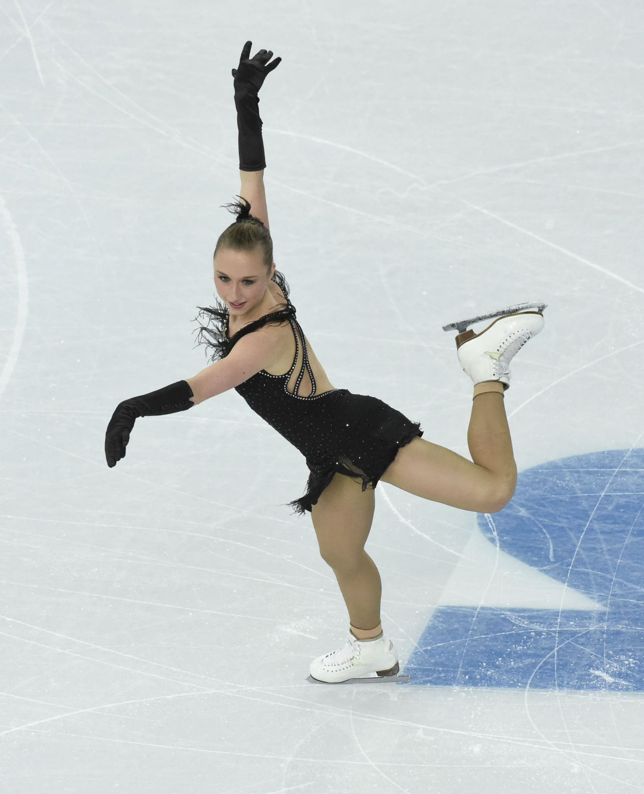 Nathalie Weinzierl - Sochi 2014 Winter Olympics - Team Ladies Short Program