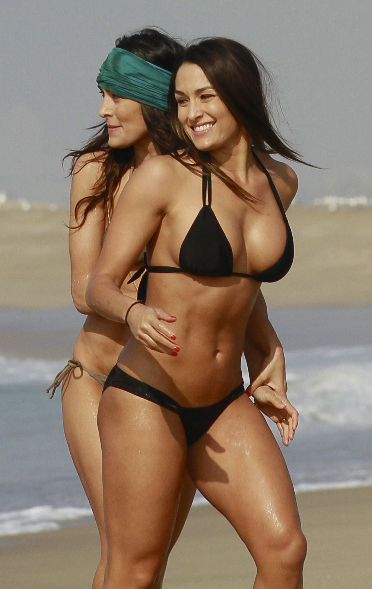 Hot twin girls bikini