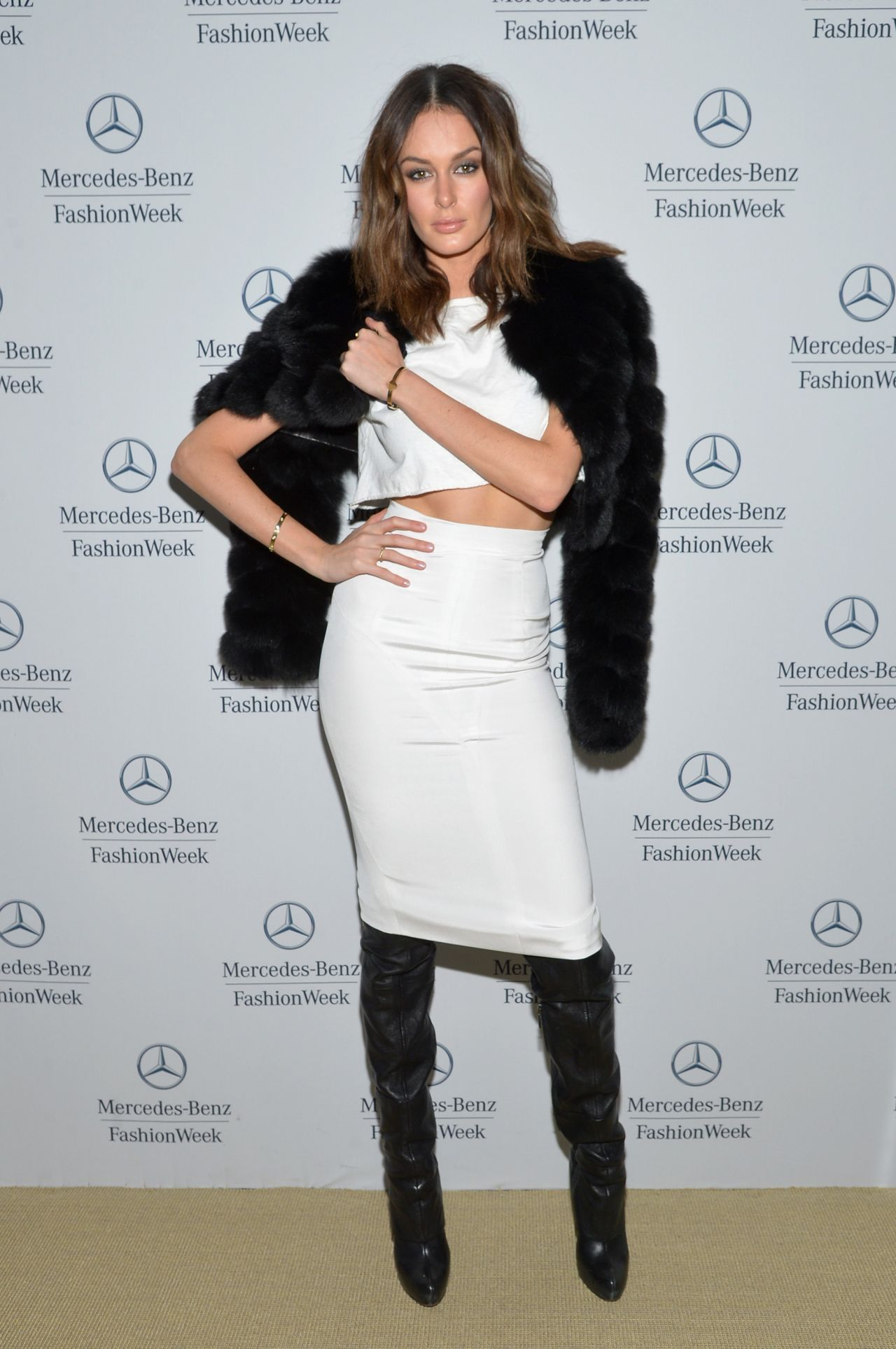 Nicole Trunfio - Mathieu Mirano Fashion Show in New York City - February 2014