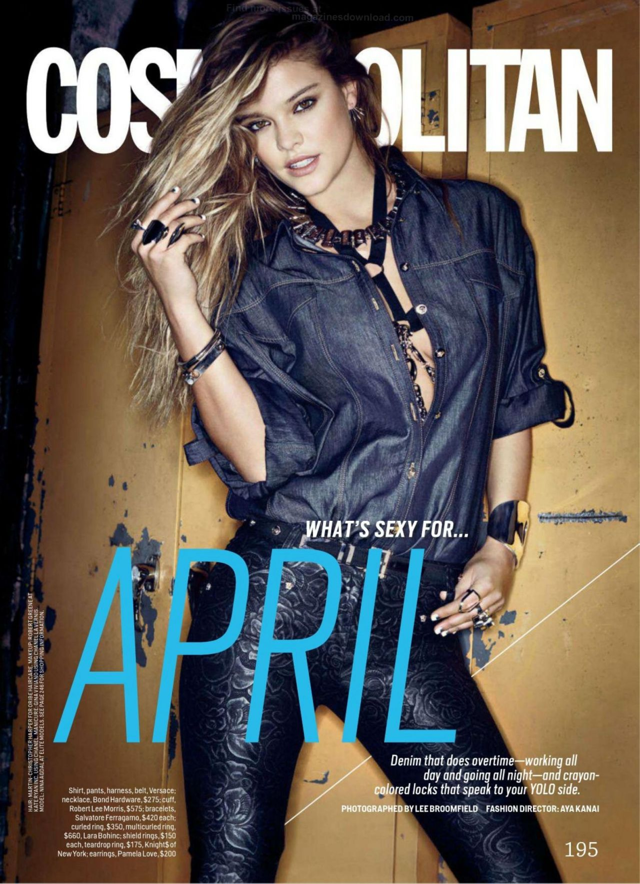 Nina Agdal - Cosmopolitan Magazine (US) - April 2014 Issue