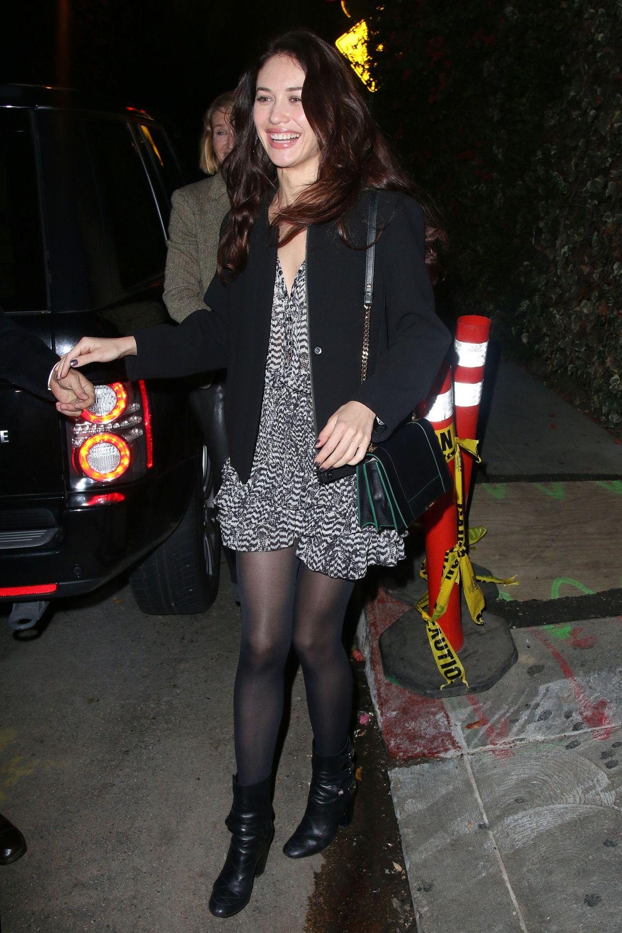 Olga Kurylenko Night Out Style – Chateau Marmont in Los Angeles – February 2014