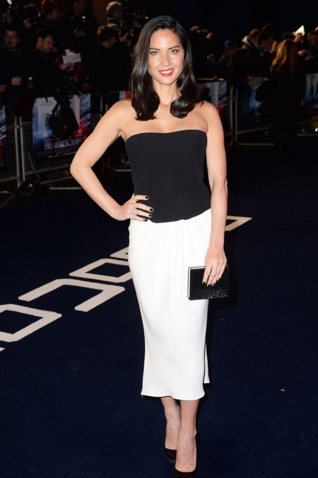 Olivia Munn Robocop Movie Premiere In London February 2014