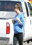 Olivia Wilde - Laving a Gym - Los Angeles, February 2014