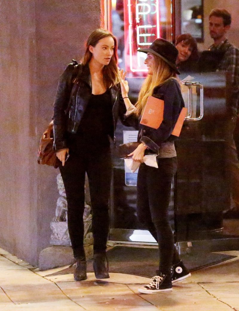 Olivia Wilde Night Out Style - Leaving Restaurant Hugo