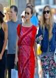 Olivia Wilde Street Style - With her Girlfriends in West Hollywood, February 2014