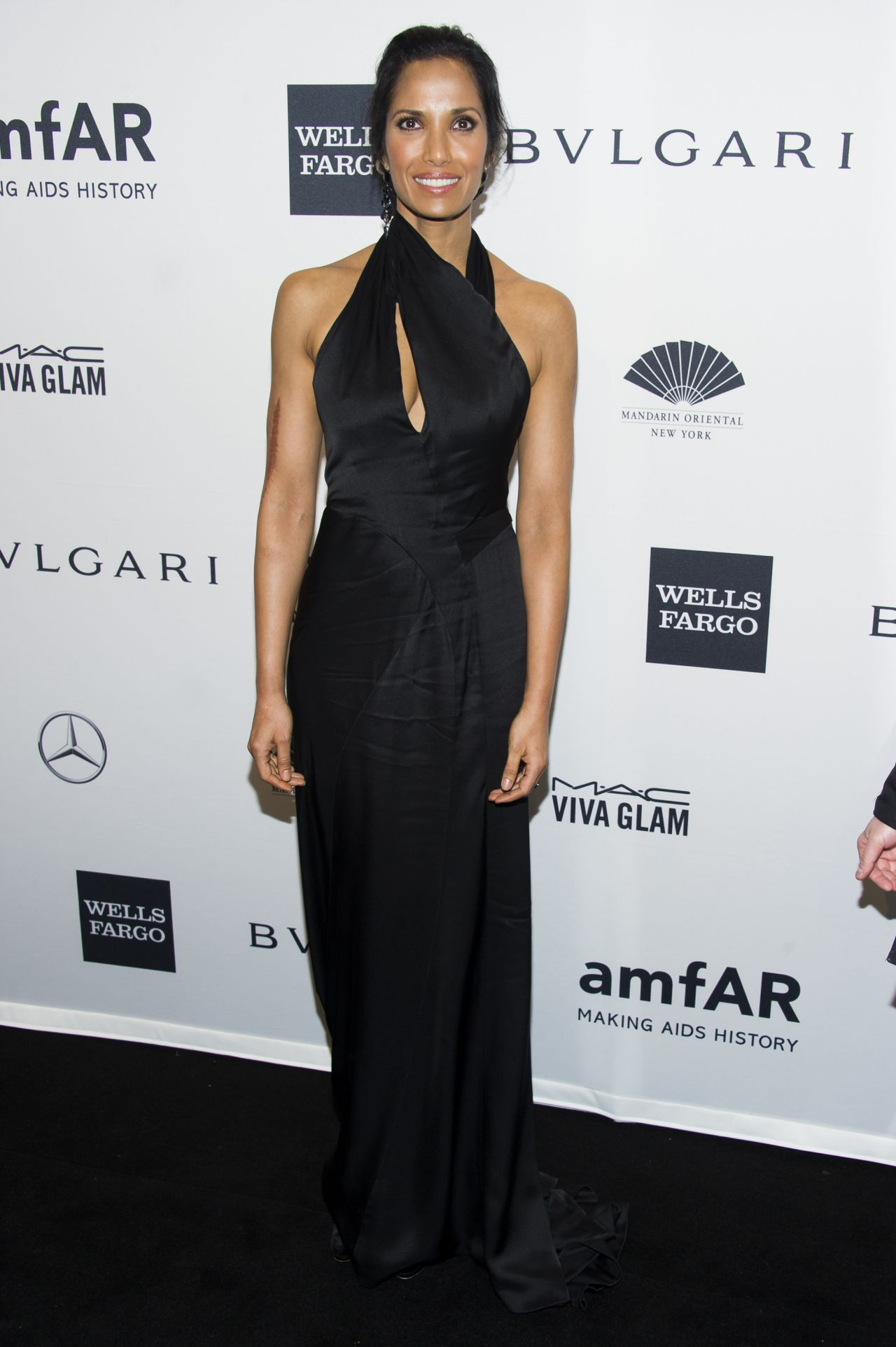 Padma Lakshmi Attends amfAR New York Gala - February 2014