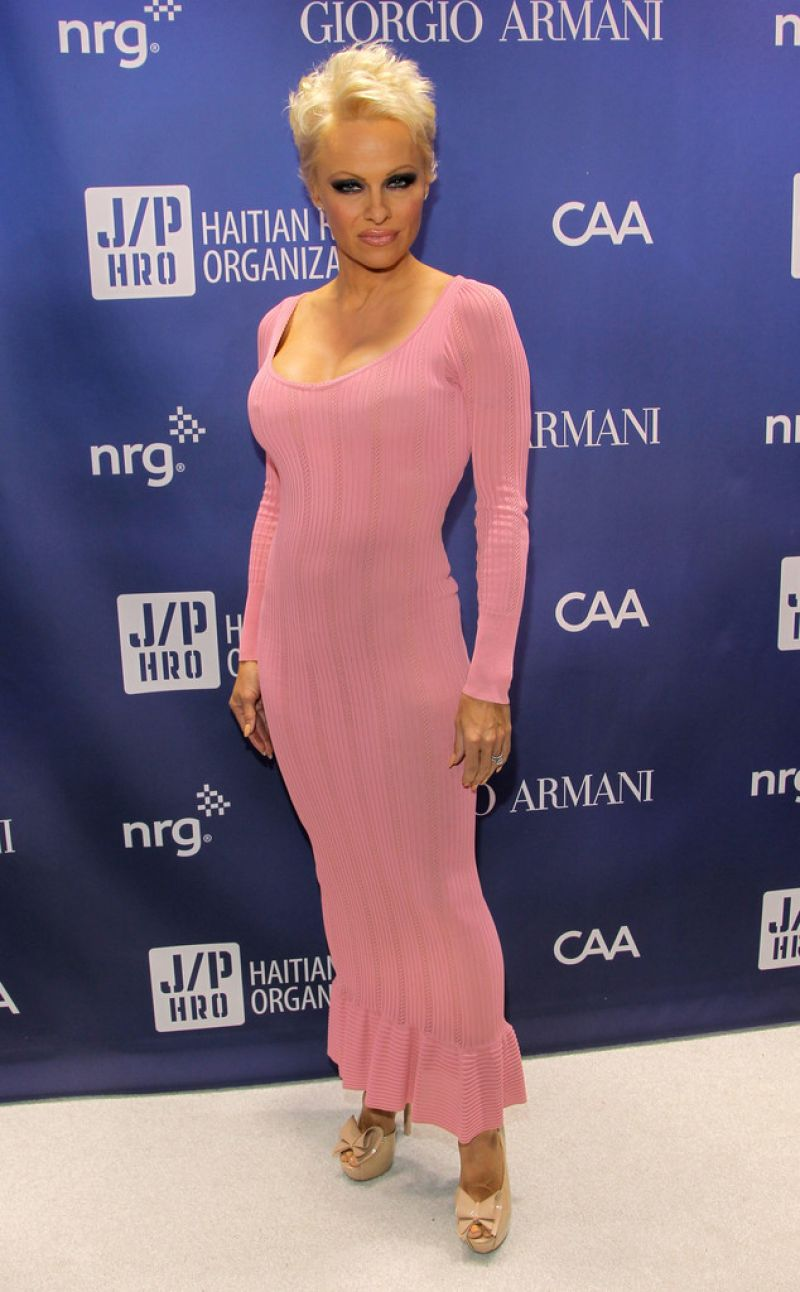 Pamela Anderson At Help Haiti Gala January 2014