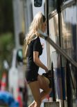 Pamela Anderson - Commercial Photoshoot Set Photos, Auckland, February 2014
