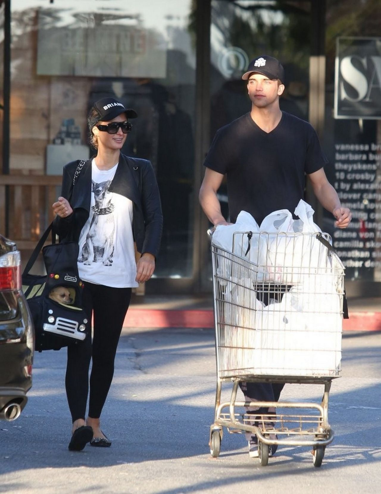 Paris Hilton and River Viiperi (Her Boyfriend) Shop For Groceries - February 2014