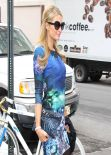 Paris Hilton Arriving at the Lincoln Center during NYFW - February 2014