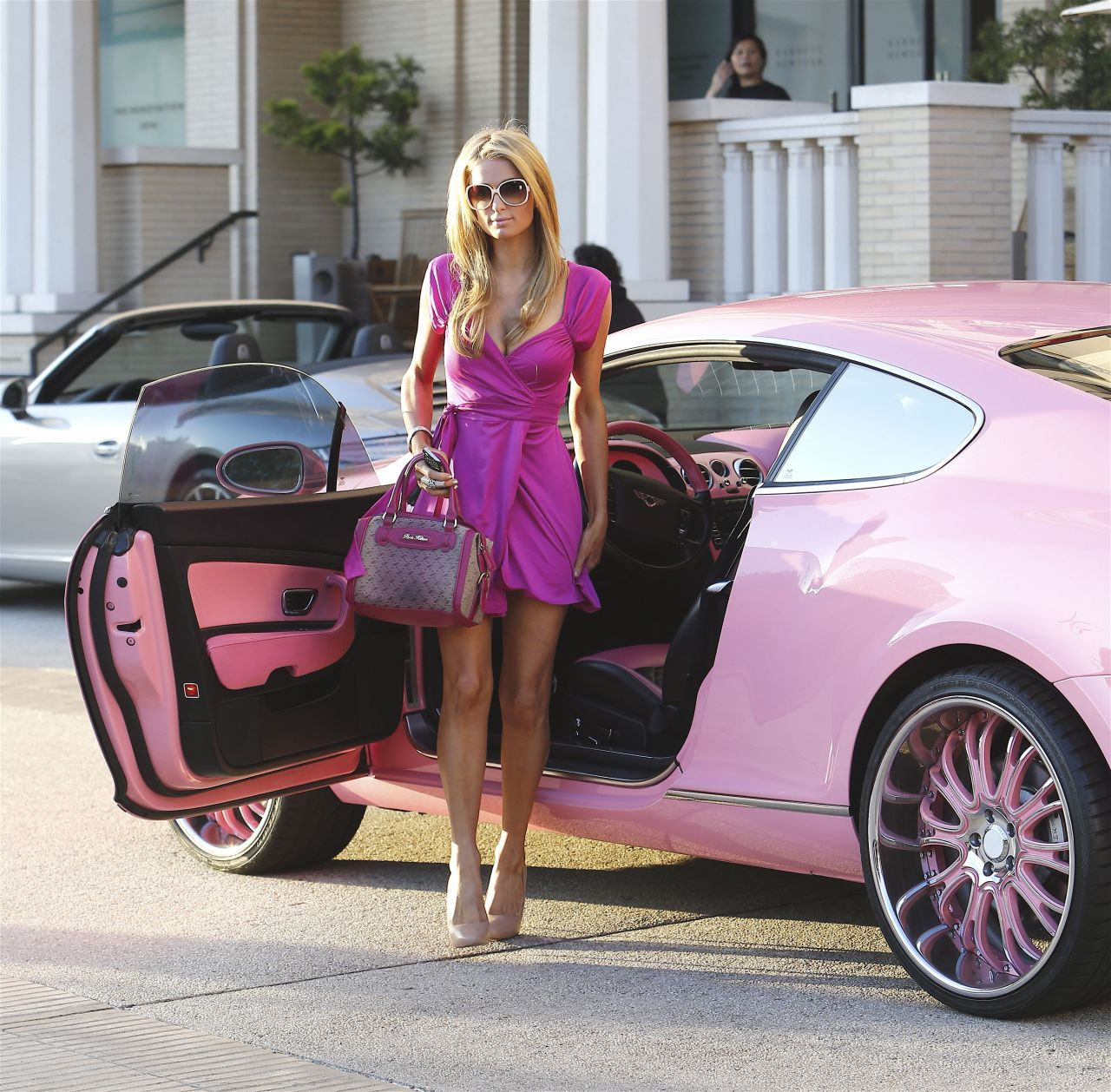 One For The Ladies Bentley Continental Gt Pink: Shopping At Barneys & Drives A Pink Bentley