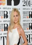 Pixie Lott Wearing DKNY Dress at 2014 BRIT Awards in London