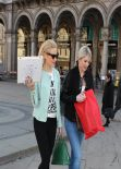 Pixie Lott With Her Sister Walking The Streets of Milan, February 2014