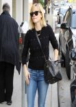 Reese Witherspoon in Jeans - Out For Lunch in Brentwood - Feb. 2014