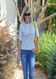 Reese Witherspoon in Jeans, Out for Lunch In Brentwood - February 2014