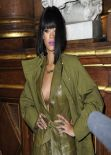 Rihanna at Balmain Fashion Show in Paris