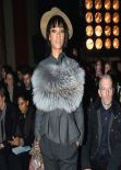 Rihanna in Paris - Lanvin F/W 2014-2015 Fashion Show in Paris