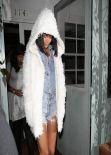 Rihanna - Leaving the Giorgio Baldi Restaurant With Her Mom - Santa Monica, February 2014