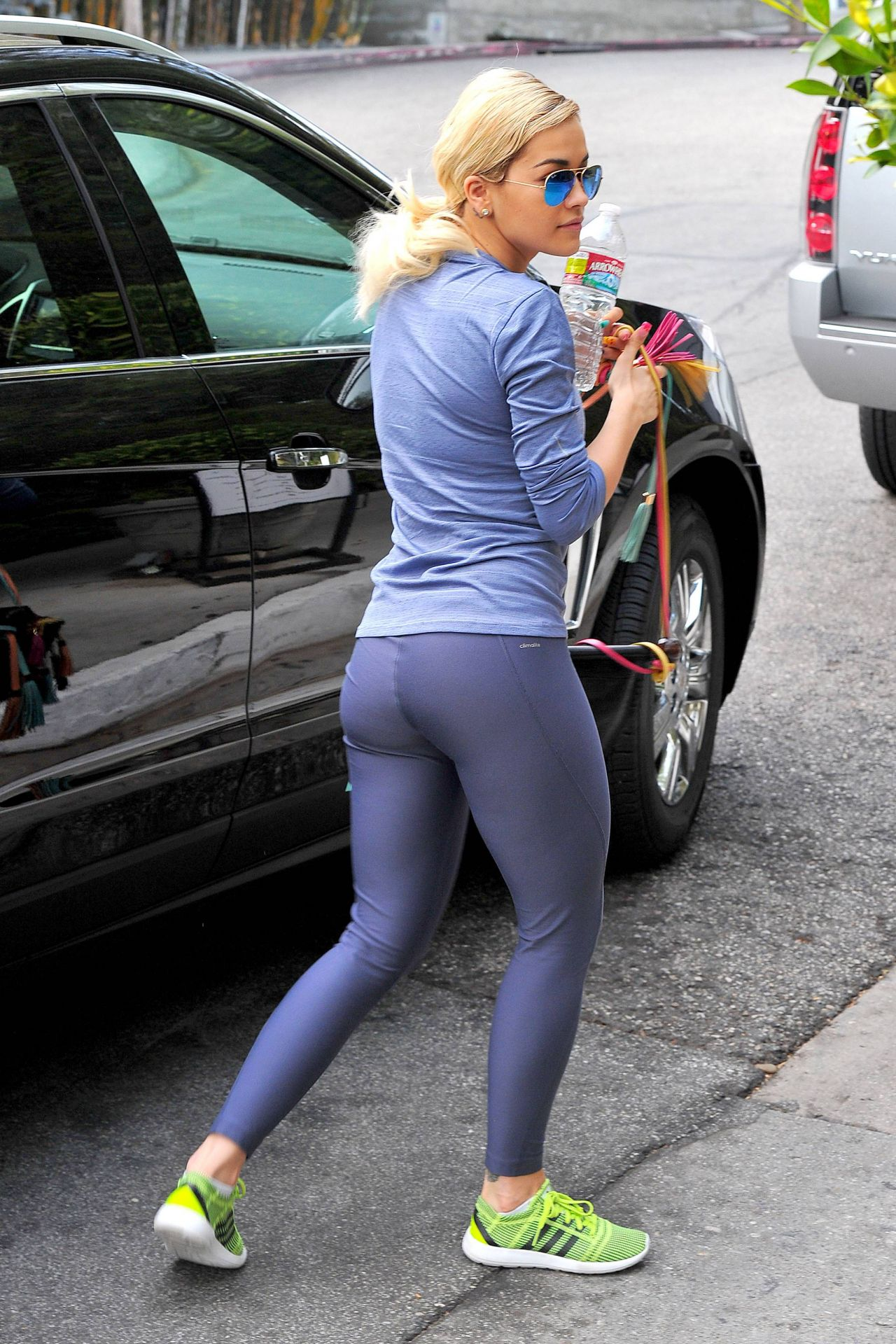 Rita Ora Gym Style - in Spandex out in  Los Angeles - February 2014