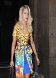 Rita Ora Night Out Style - Goes to Arengario Restaurant in Milan - February 2014