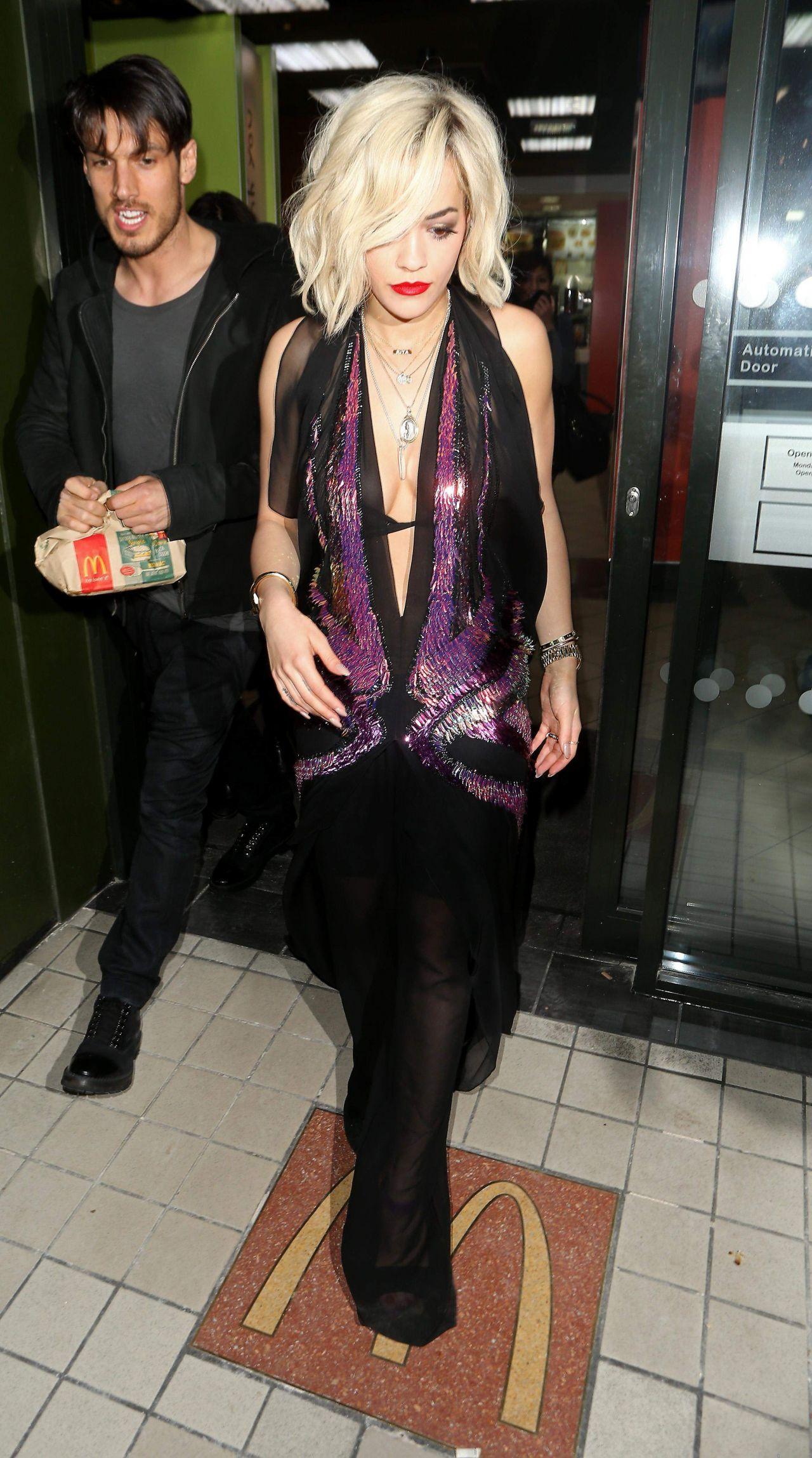 Rita Ora Visited McDonalds in North London, February 2014