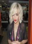 Rita Ora Visited McDonalds in North London, February 2014