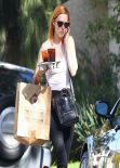 Rumer Willis Street Style - Out in West Hollywood - February 2014