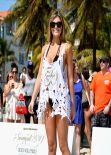Samantha Hoopes - Sports Illustrated Swimsuit Beach Volleyball Tournament in Miami - Feb. 2014