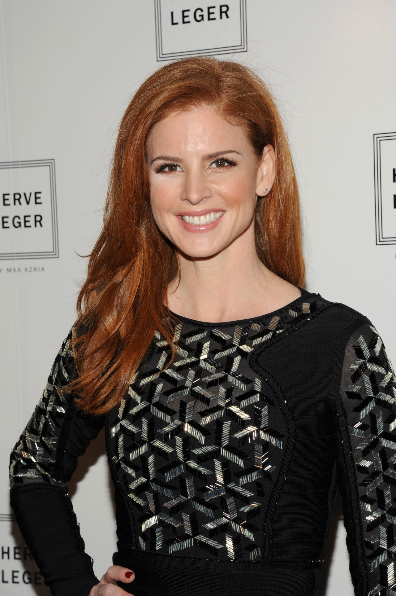 Sarah Rafferty - Herve Leger By Max Azria 2014 Fashion Show in New York City