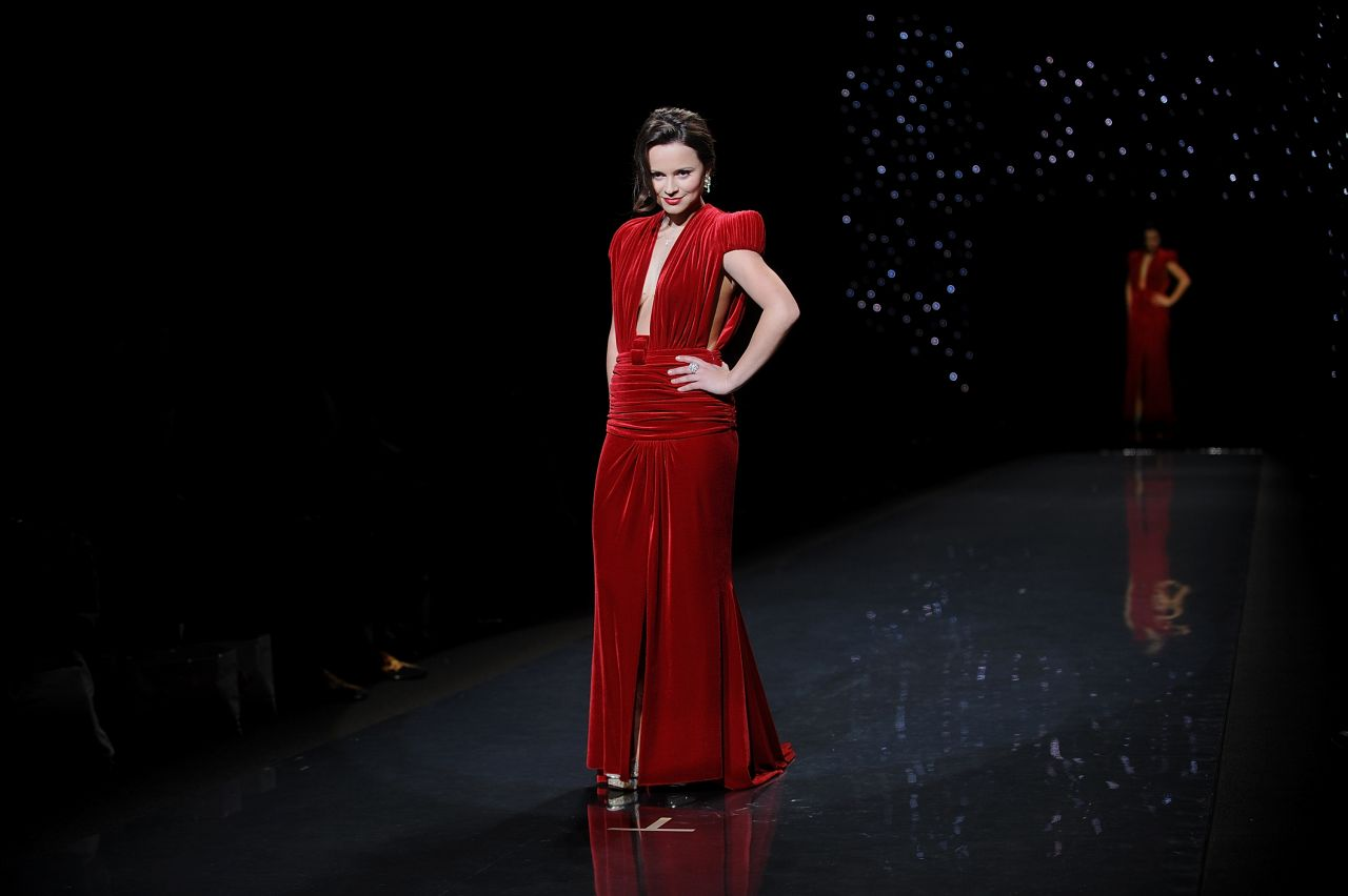 Sasha Cohen - Heart Truth Red Dress Collection - February 2014