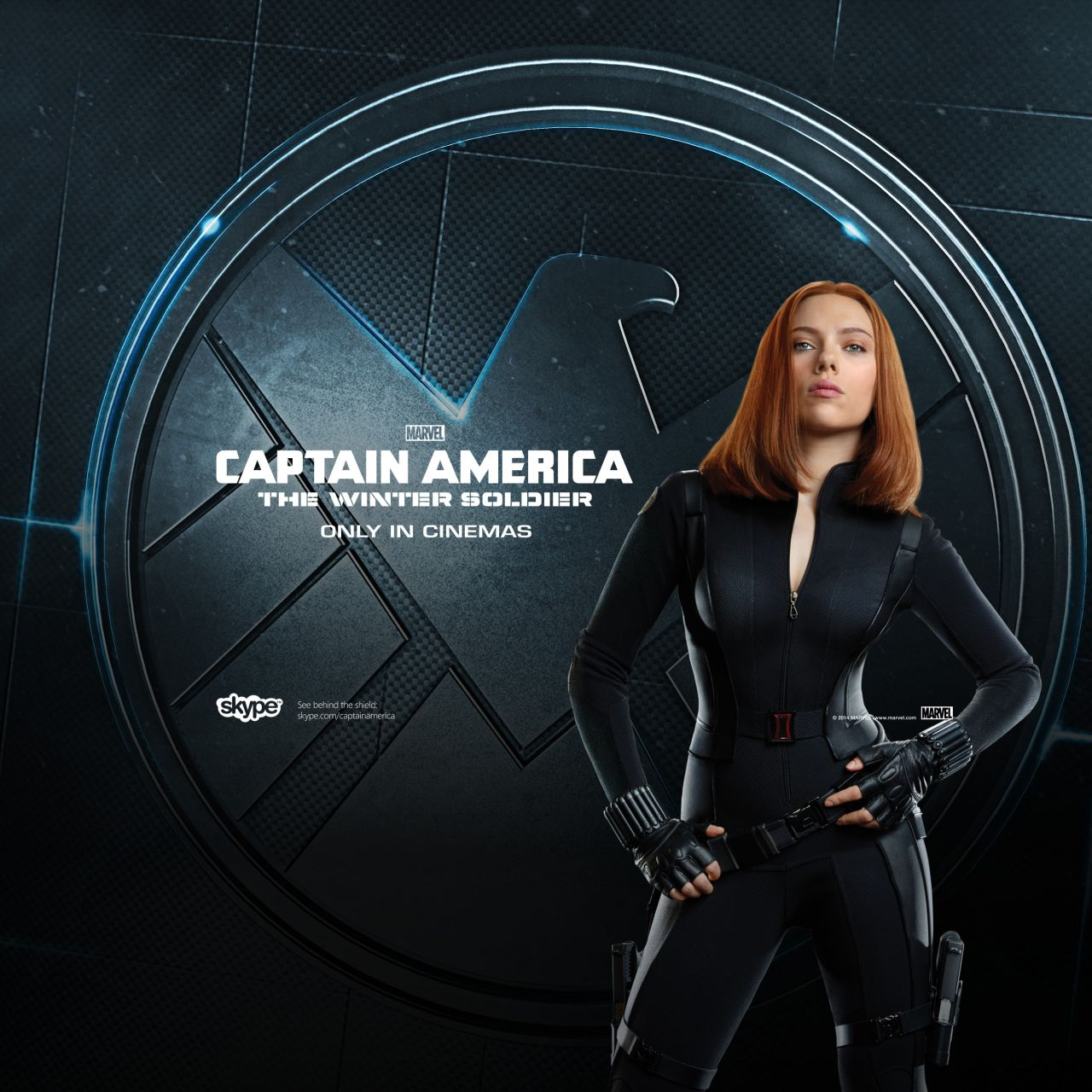 Scarlett Johansson - Captain America: The Winter Soldier Poster