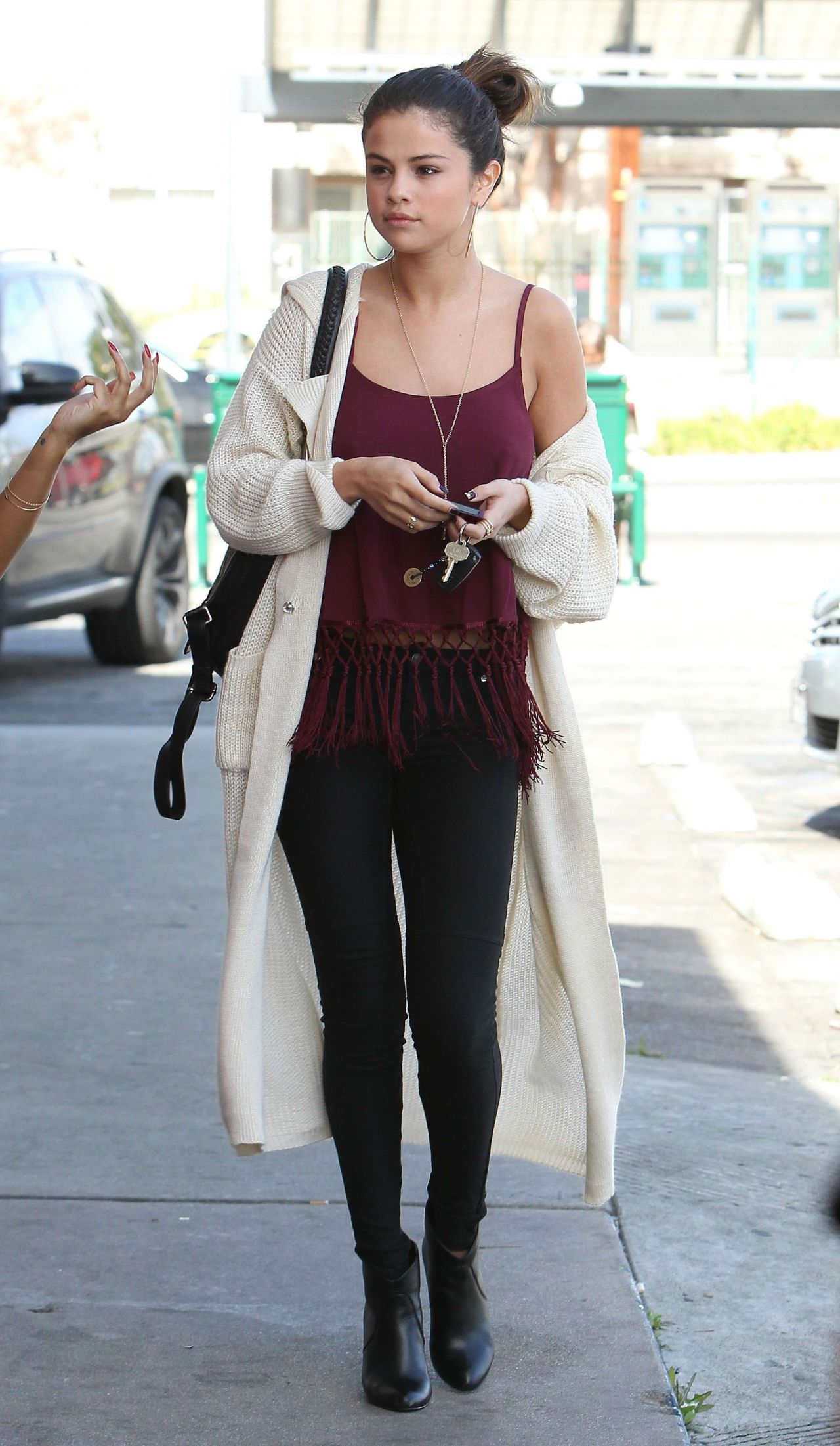 Selena Gomez In Tights Out In Los Angeles February 2014