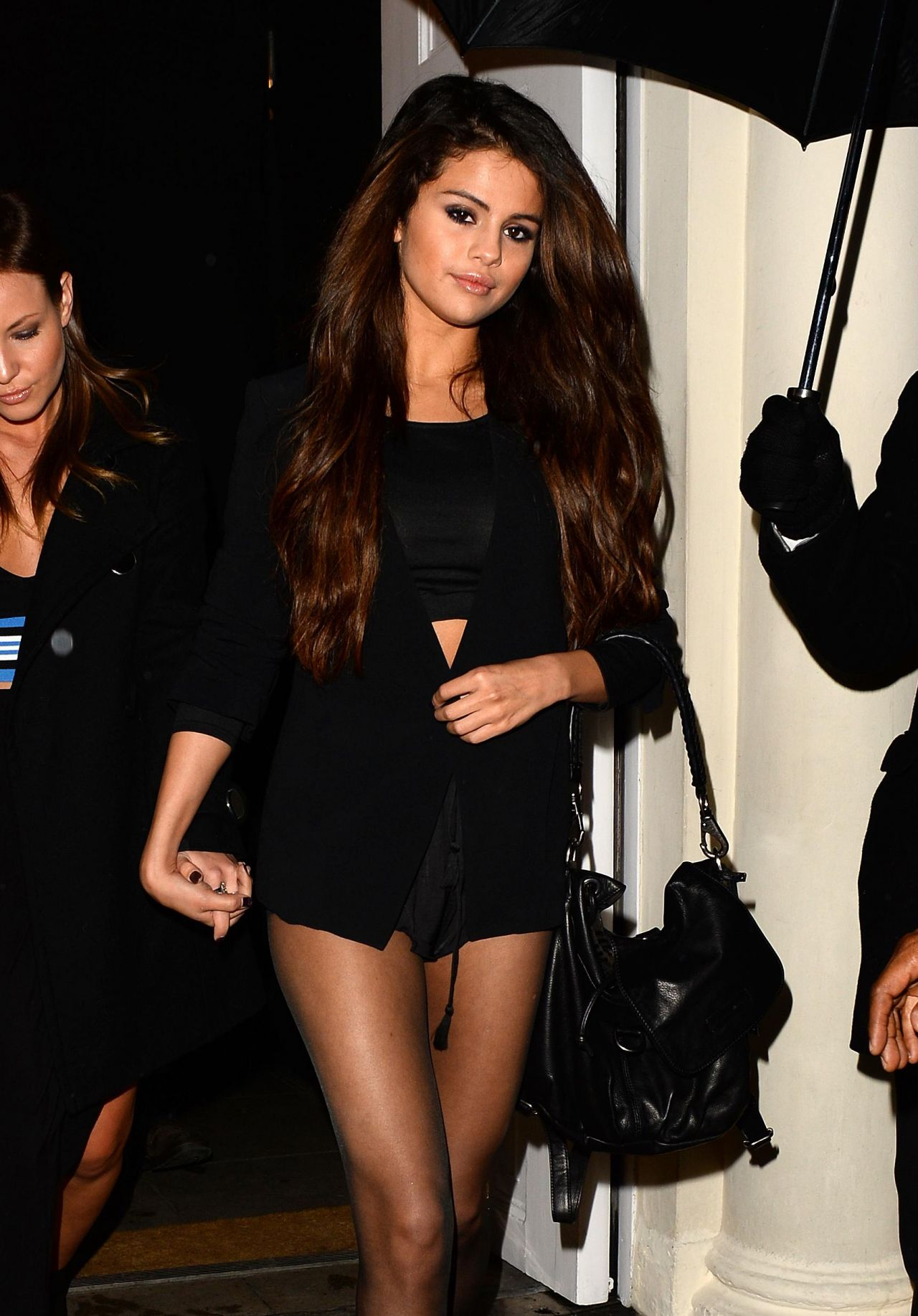 Selena Gomez Night Out Style Leggy Out In London