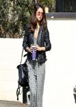 Selena Gomez Street Style - Leaving an Office in Los Angeles, Feb. 2014