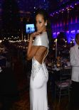 Selita Ebanks Wearing Gabriela Cadena Gown - 2014 amfAR New York Gala