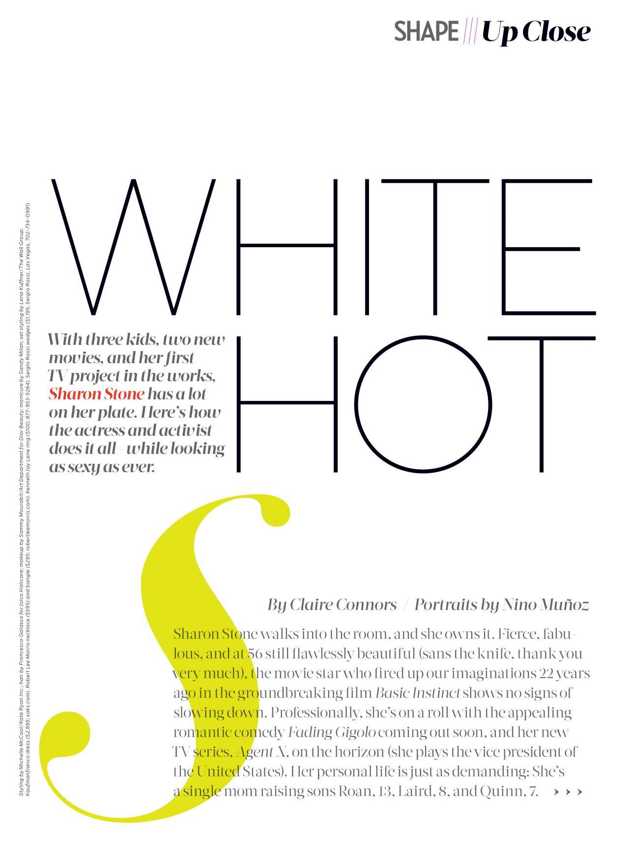 Sharon Stone Haircut Shape Magazine March 2014 Sharon