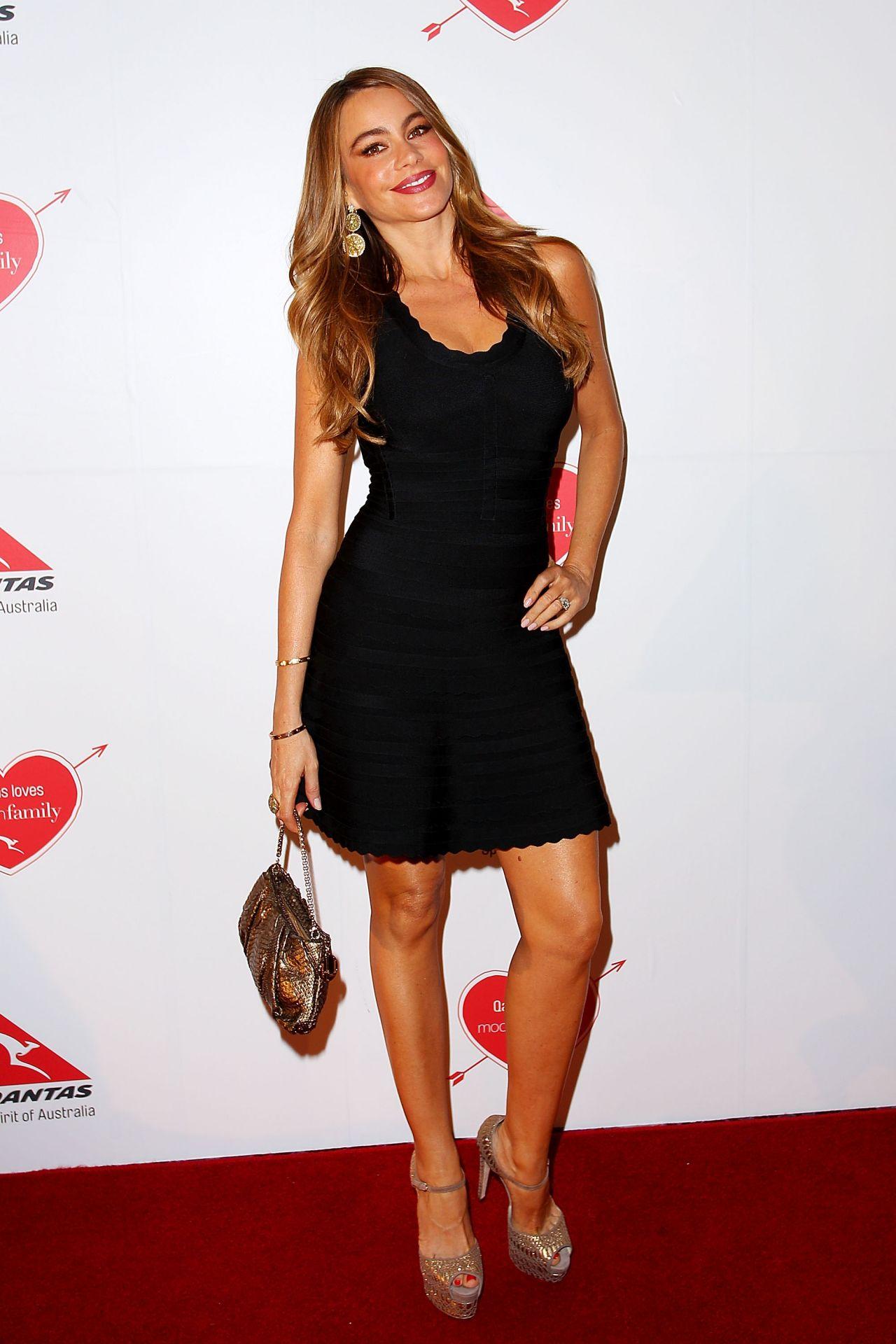 Sofia Vergara Wearing Herve Leger Mini Dress - 'Modern