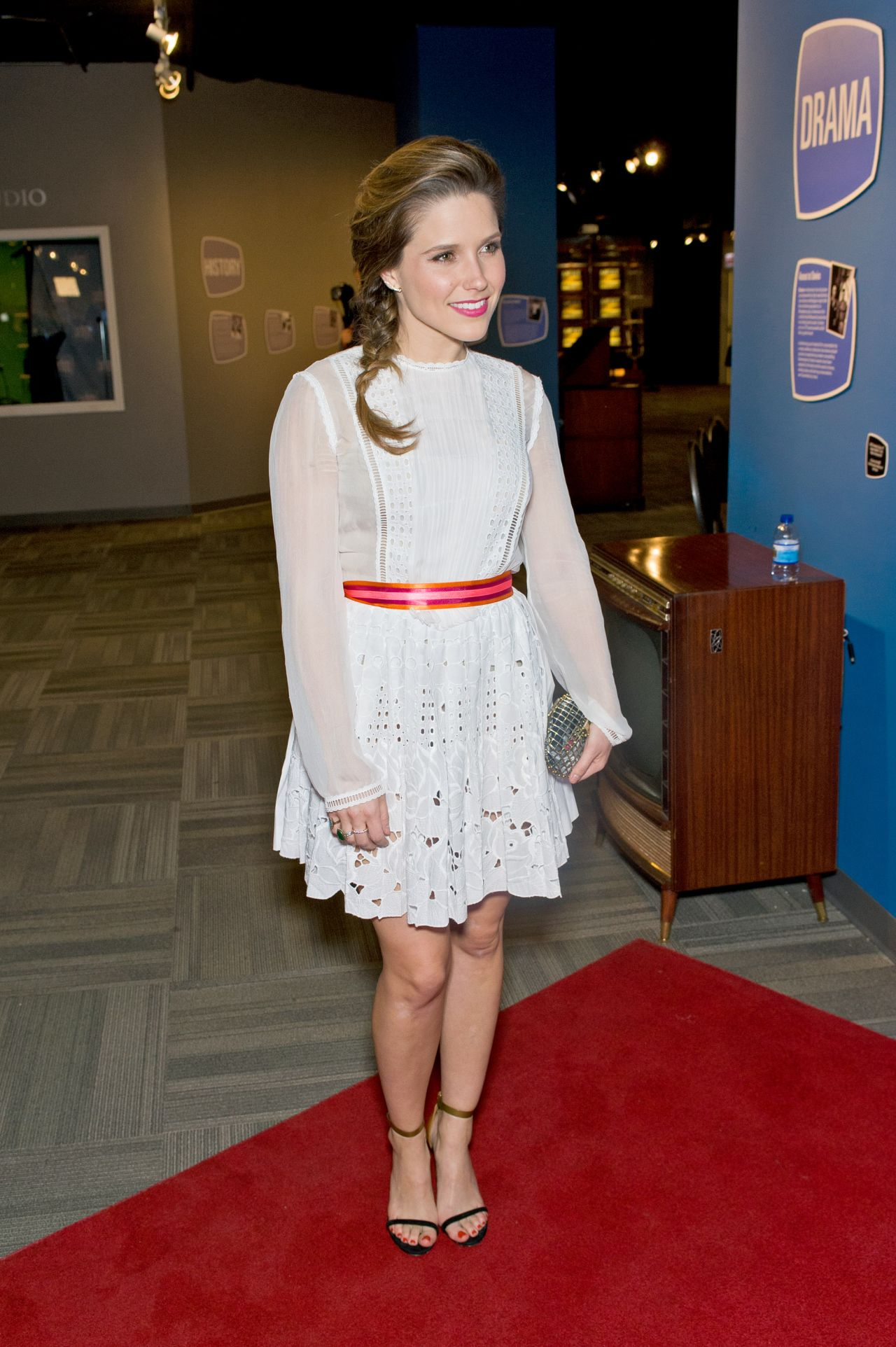 Sophia Bush Wearing Alberta Ferreti Dress Chicago Fire