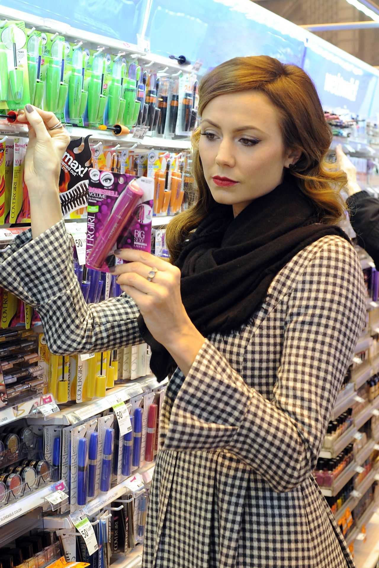 Stacy Keibler - Duane Reade Drug Store in Soho - New York City, Feb. 2014