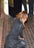 Stacy Keibler - Stumbled and Fell in Front of Chateau Marmont in West Hollywood - January 2014