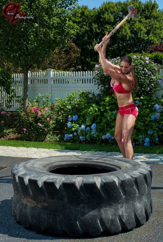 Stephanie Mcmahon In Bikini Working Out Chris Zimmerman