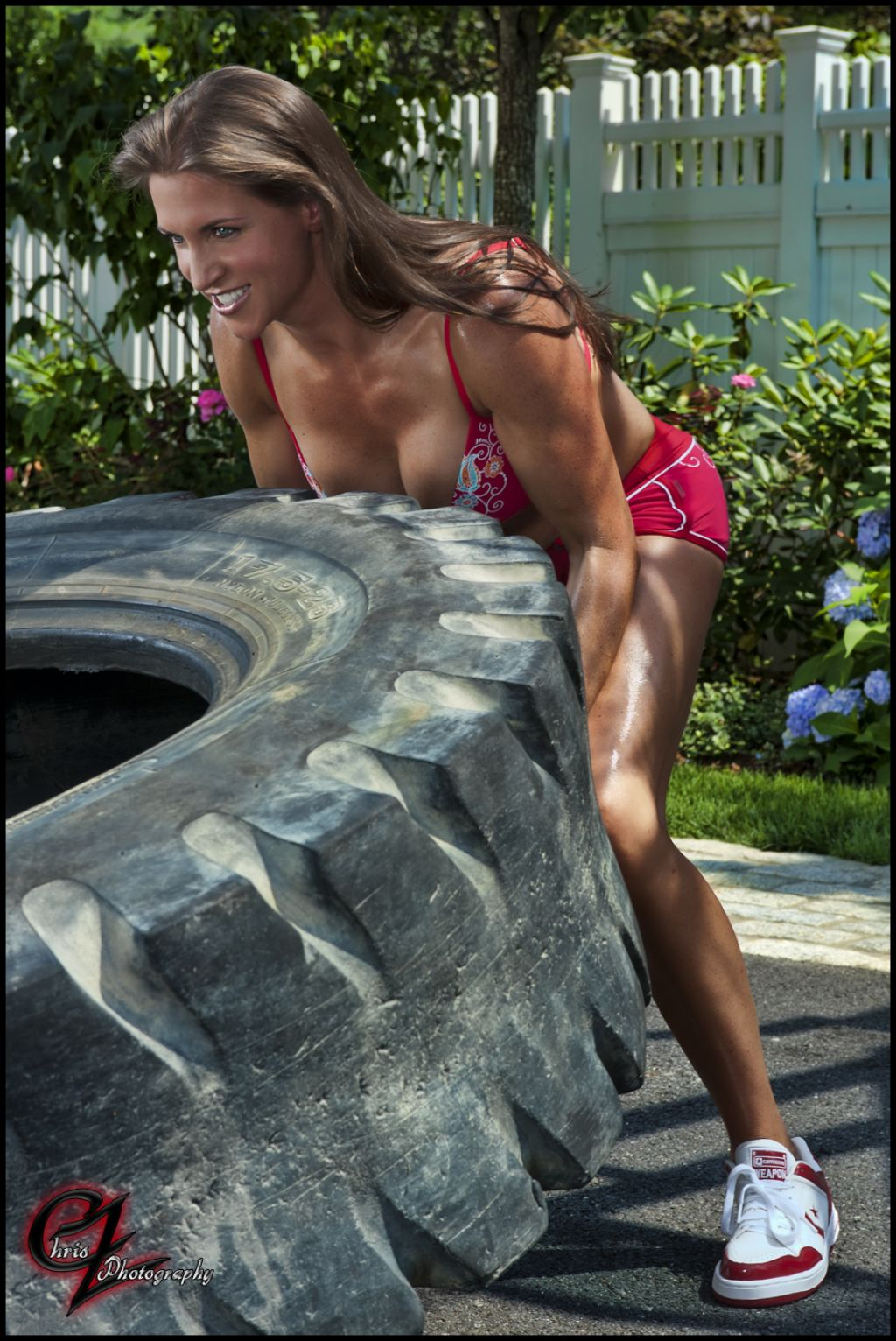 Stephanie Mcmahon In Bikini Working Out - Chris Zimmerman -2578