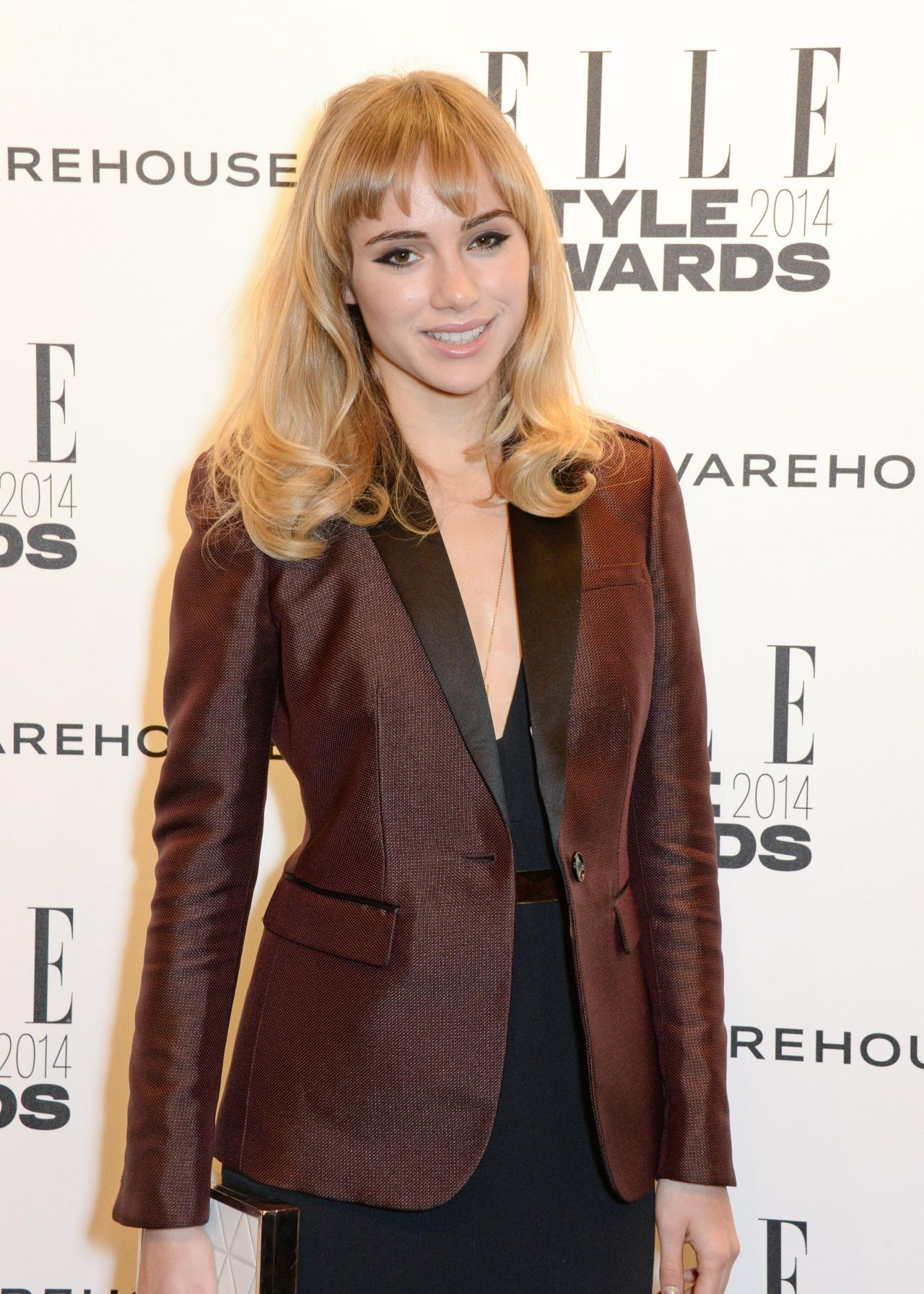 Suki Waterhouse Wearing Burberry Tailoring - 2014 ELLE Style Awards
