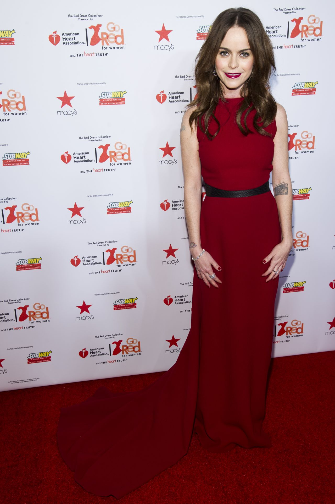 Taryn Manning - Heart Truth Red Dress Collection - February 2014