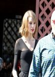 Taylor Swift at a Dance Studio in Los Angeles, February 2014