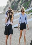 Taylor Swift & Lorde at the Beach in Malibu - February 2014