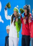 Tina Maze, Dominique Gisin and Lara Gut - Sochi 2014 Podest Ceremonial