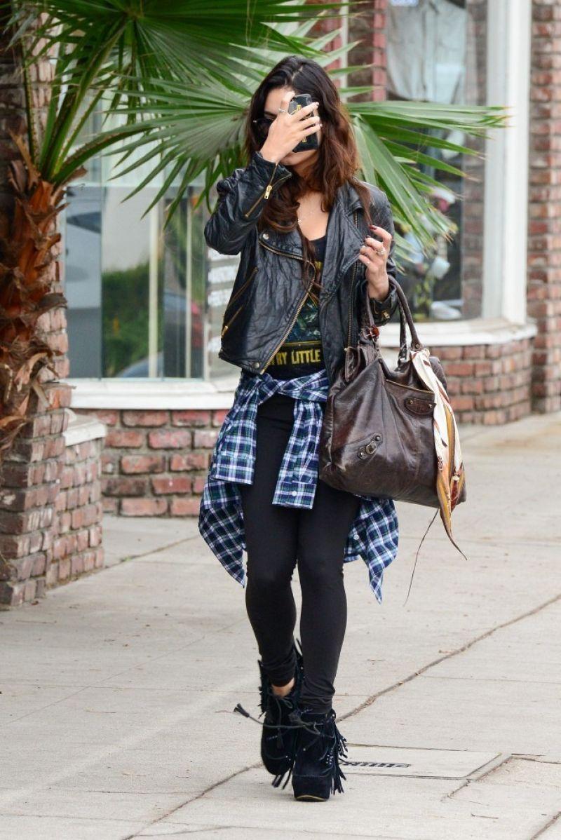 Vanessa Hudgens - Real Los Angeles Street Style: Winter 2014