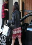 Vanessa Hudgens Shows Off Legs In Sexy Skirt - Arriving to Nine Zero One Salon in West Hollywood - Feb. 2014